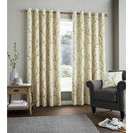 Fusion Hemsworth Lined Curtains - 229x229cm - Ochre