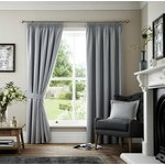 Curtina Marlowe Lined Curtains - 168x183cm - Grey