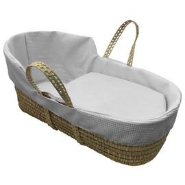Clair de Lune Grey Waffle High Top Palm Moses Basket
