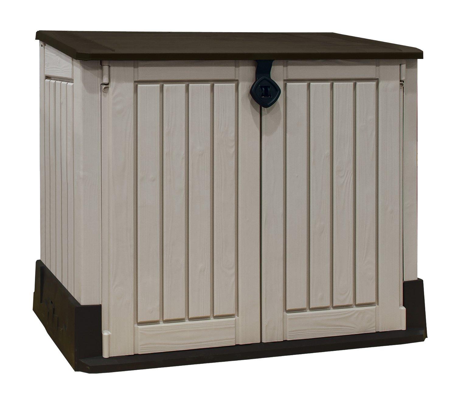Keter Store It Out Midi Storage Box - Beige/Brown  sc 1 st  Argos & Garden storage boxes and cupboards | Argos Aboutintivar.Com