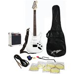 more details on Johnny Brook Electric Guitar, 20W Amp and Accessories -White