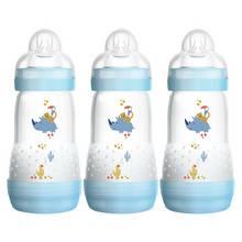 MAM Easy Start Anti-Colic 260ml Bottle 3 Pack - Blue