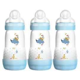 MAM Easy Start Anti-Colic 260ml Bottle 3 Pack - Blue