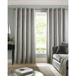 Cairo Eyelet Curtains - 229x183cm - Silver