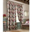 more details on Floral Pencil Pleat Curtains - 229x229cm - Red.