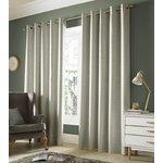 Monaco Eyelet Curtains - 165x183cm - Pebble