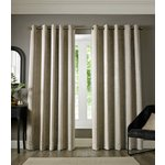 Chenille Ombre Eyelet Curtains - 165x137cm - Grey