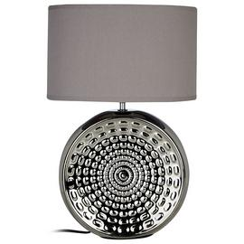 Win Ceramic Table Lamp - Chrome & Grey