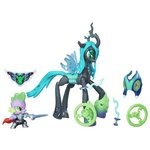 more details on MLP Guardians of Harmony Queen Chrysalis v. Spike the Dragon