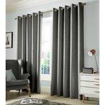 Monaco Eyelet Curtains - 117x137cm - Dove