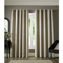 Chenille Ombre Eyelet Curtains - 165x183cm - Grey