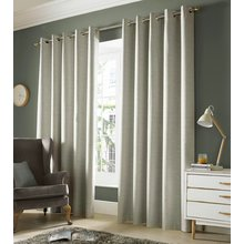 Monaco Eyelet Curtains - 229x229cm - Pebble