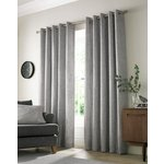 Academy Eyelet Curtains - 117x137cm - Grey