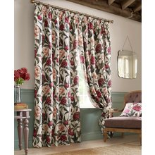 Floral Pencil Pleat Curtains - 117x229cm - Multicoloured