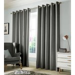 Monaco Eyelet Curtains - 229x183cm - Dove