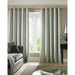 Cairo Eyelet Curtains - 229x183cm - Duck Egg