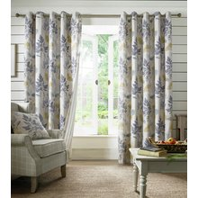 Sycamore Eyelet Curtains - 117x137cm - Teal