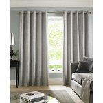Cairo Eyelet Curtains - 165X183cm - Silver