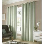 Monaco Eyelet Curtains - 229x183cm - Sage