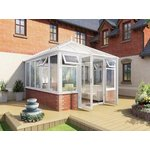 more details on Edwardian Dwarf Wall Large Conservatory - White.