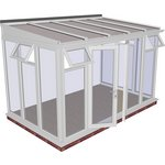 more details on Traditional Full Height Large Lean to Conservatory - White.