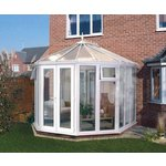 more details on Victorian Full Height Medium Conservatory - White.