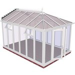 more details on Edwardian Full Height Extra Large Conservatory-White.