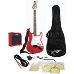 more details on Johnny Brook Electric Guitar, Amp and Accessories - Red.