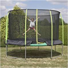 TP 12ft Challenger Trampoline with Enclosure