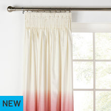 HOME Ombre Unlined Pencil Pleat Curtains - 117x183cm - Red