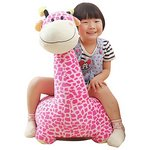 more details on Plush Pink Giraffe Ride On.