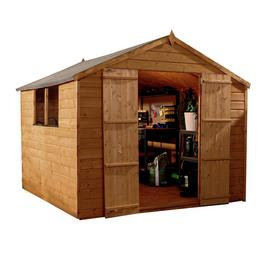 Mercia Wooden 8 x 8ft Shiplap Apex Garden Shed