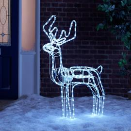 Argos Home LED Animated Nodding Reindeer - Bright White