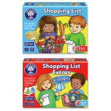 Orchard Toys Shopping List with Clothes Extras Memory Game
