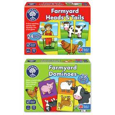 Farmyard Heads n Farm Dominoes Bundle