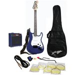 more details on Johnny Brook Electric Guitar, Amp and Accessories - Blue.