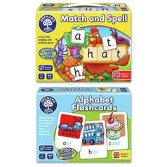 Orchard Toys Match & Spell and Alpha Flashcards Bundle