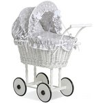 more details on Supreme Baby Retro Handmade Wicker Doll Pram.