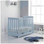 more details on Obaby Stamford Bonbon Blue Mini Cot Bed