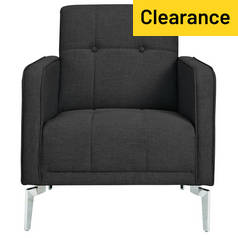 Argos Home Tori Fabric Armchair in a Box - Charcoal