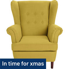 Argos Home Martha Fabric Wingback Chair - Yellow