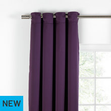 Collection Tiamo Satin Lined Curtains - 229x229cm - Plum