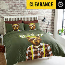 Hashtag Grin and Bear It Bedding Set - Double