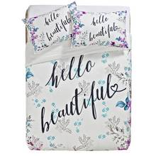 HOME Hello Beautiful Bedding Set - Double