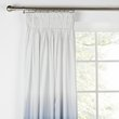 HOME Ombre Unlined Pencil Pleat Curtains -117x183- Midnight
