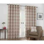 Julian Charles Kendal Lined Curtains - 112x137cm - Spice