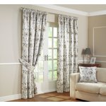 Julian Charles Carmen Lined Curtains - 167x182cm - Natural