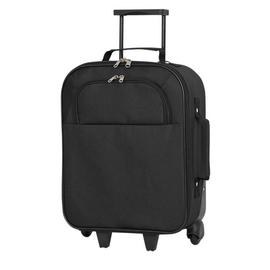 Simple Value Soft 2 Wheel Small Cabin Suitcase - Black