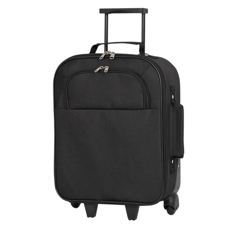 Simple Value Soft 2 Wheeled Suitcase - Black from Argos