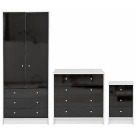 Argos Home Malibu Gloss 3 Piece 2 Door Wardrobe Set